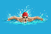 Swimmer — Stock Vector