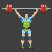 Male Weightlifter — Stock Vector