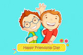Friendship Day greeting — Stock Vector
