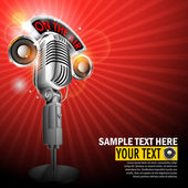 Microphone with On Air Tag — Stock Vector