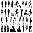 Silhouette of Woman — Stock Vector
