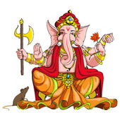 Lord ganesha — Stockvektor