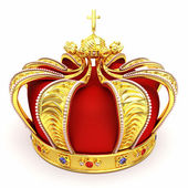 Gold Heraldic Crown — Photo
