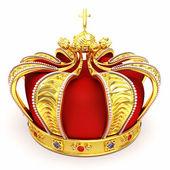 Ouro coroa heráldica — Foto Stock
