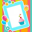 Birthday Scrapbook — Stock Vector