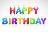 Happy Birthday Candle — Stock Vector