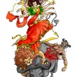 Stockvector : Goddess Durga