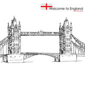 London Bridge — Stock Vector