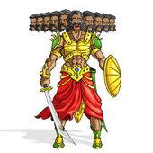Raavana with Ten Heads — Stock Vector