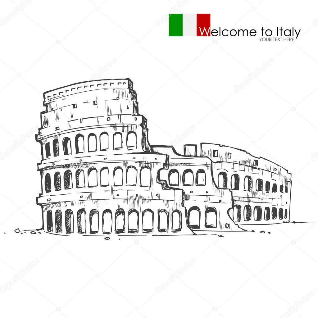 Vector illustration of Roman Colosseum against white background — Stock Vector #12322311