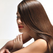 Woman with smooth hair. High quality image. — Stock Photo