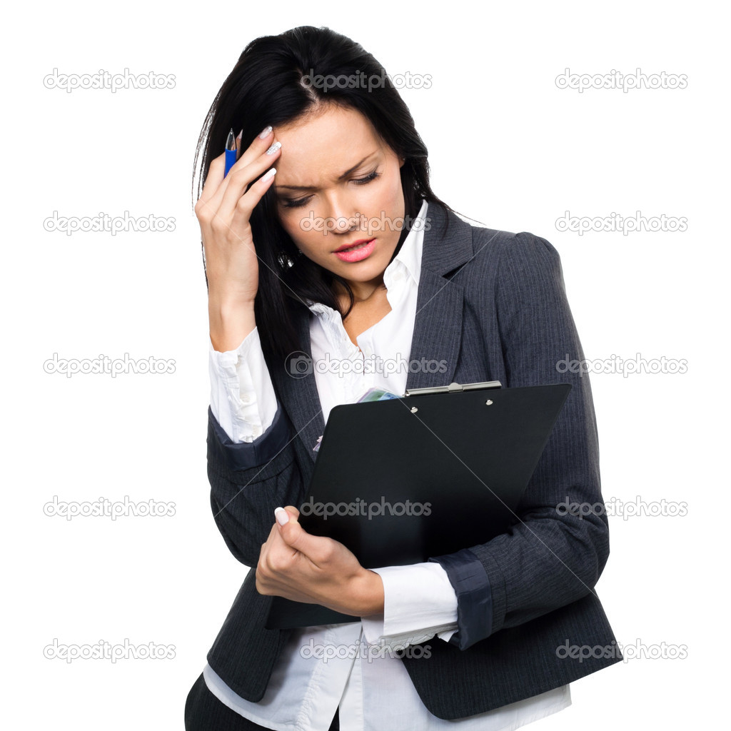 Young Businesswoman depressed — Zdjęcie stockowe #11306264