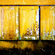 Old yellow window - Stock Photo