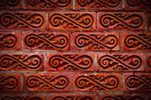 Red vintage brick wall — Stockfoto