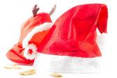 санта клауса шляпу и cuteyclothes — Стоковое фото
