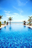 Tropical swimming pool — Stock Photo