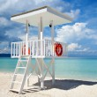 Beach guard tower in Boracay — Stock Photo