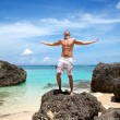 Enjoying paradise — Stockfoto