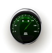 Vector realistic Speedometer — Stock Vector