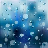Rainy Window Background vector — Stock Vector