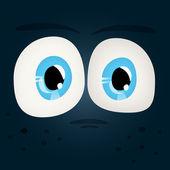 Set of Shiny Character Eyes — Stock Vector