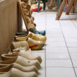 Carving clogs — Stockfoto