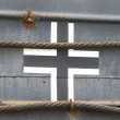 German swastika on german tank of WW2 — Stock Photo