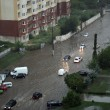 Flood inundated street in Odessa — Stock Photo #11850474