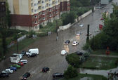 The flood inundated a street in Odessa — Stock Photo