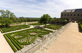Royal Monastery garden — Stock Photo