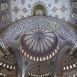 Interior view of Sultanahmet Mosque, Istanbul, Turkey — 图库照片