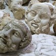 Imitation busts of historic personalities — Stock Photo