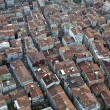 Aerial view on Levent district of Istanbul - Stock Photo