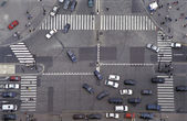 Road Intersection in Paris — Stock Photo