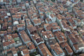 Aerial view on Levent district of Istanbul — Stock Photo