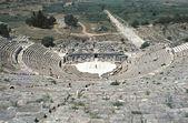View of Theatre and Horbour street, Ephesus — Stock Photo