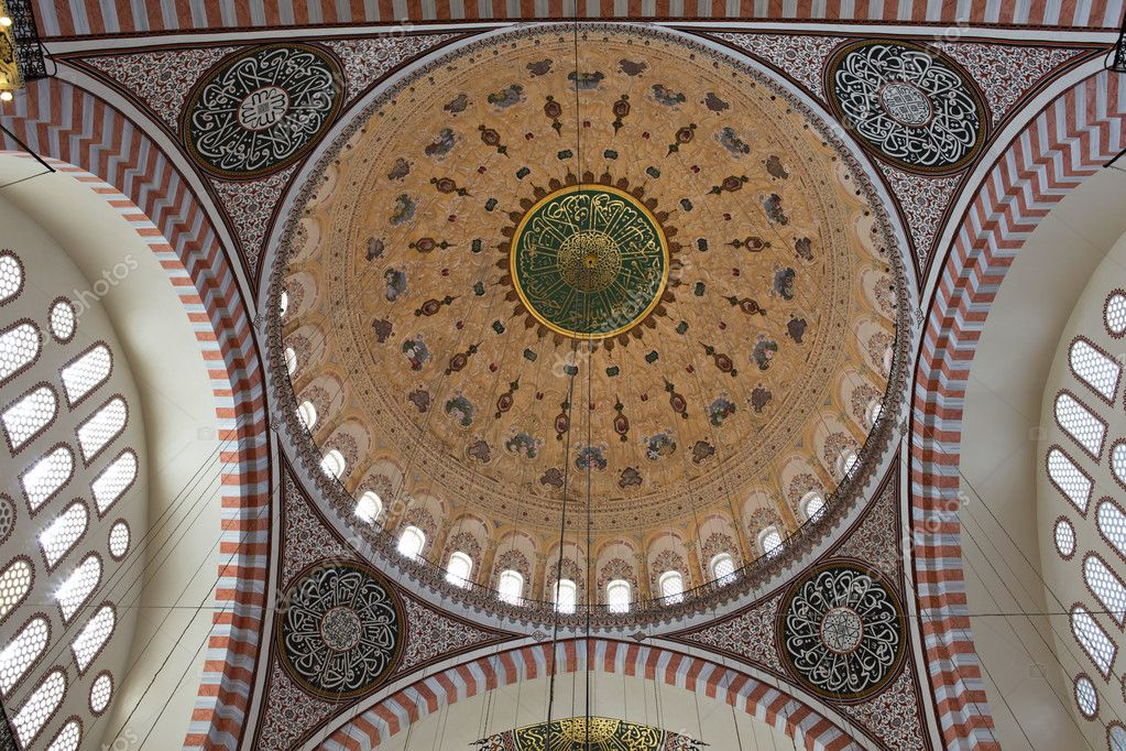Dome patterns of Suleymaniye Mosque, Istanbul, Turkey — Stock Photo #11543944