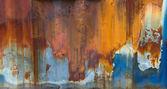 Textura azul e enferrujada — Foto Stock