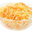 Coleslaw in the glass bowl — Stock Photo