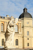 Statue 'Justice' in Gatchina, Russia — Stock Photo