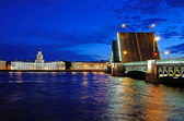 St. Petersburg, Russia at night — Stock Photo