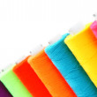 Stock Photo: Multi-coloured threads. On white background.