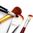 Stock Photo: Brushes for make-up. On white background.