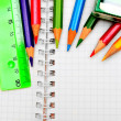 Pencils, ruler and eraser — Stockfoto