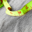 Stock Photo: To measure on fabric.