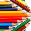 Colour pencils on a white background. — Stok fotoğraf
