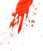 白地に赤い水しぶき. — ストック写真