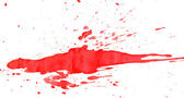 Red splashes. On a white background. — Stock Photo
