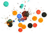 Multi-coloured stains. On a white background. — Stock Photo