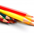 Stock Photo: Multi-coloured pencils. On a white background.